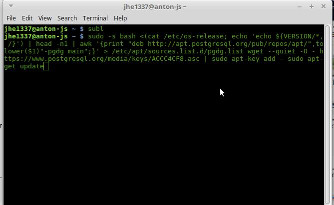 tambah repository untuk PostgreSQL