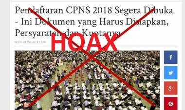 Pendaftaran CPNS Tahun 2018 Hoax