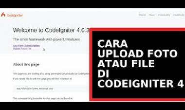 CARA UPLOAD FOTO ATAU  FILE DI CODEIGNITER 4 #8